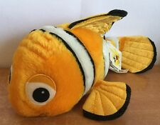 "Disney Parks Plush Finding Nemo Marlin Bean Bag 9"" Walt Disney Parks Clown Fish"