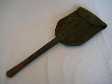 Vintage WWII US AMES 1945 Folding Field Shovel with Canvas Case