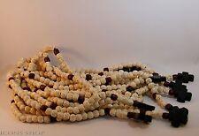 Chotki, Rope, Komboskini, Rosewood, Garnet Stone, with Cross 50 Prayer White