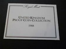 1988 ROYAL MINT PROOF COIN SET DOCUMENTATION. 1988 ORIGINAL LEAFLET FOR SET.