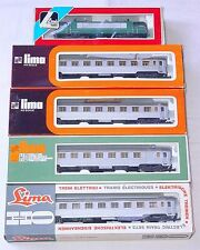 Lima HO French SNCF BB-25247 ELECTRIC LOCOMOTIVE & MISTRAL INOX WAGON SET MIB`78
