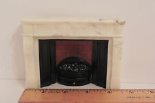 Dollhouse Miniature Fireplace Faux Marble with Light 1:12 Scale