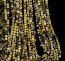 """3Mm Yellow Turquoise Gemstone Grade A Yellow Round 3Mm Loose Beads 16"""""""