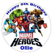 Marvel Superhero's Personalised Cake Topper Edible Wafer Paper 7.5""