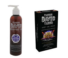 FAMOUS DAVES MOISTURE TAN LOTION / CREAM SELF TANNER + 5-PACK FAKE TANNING WIPES