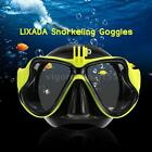 New Scuba Snorkeling Swim Tempered Glass Diving Mask Goggles w/Camera Mount B1H6