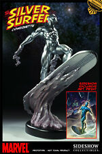 "SIGNED ""STAN LEE"" SIDESHOW EXCLUSIVE SILVER SURFER Comiquette STATUE Fantastic"