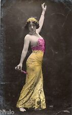 BE643 Carte Photo vintage card RPPC Femme woman danseuse reutlinger flamenco