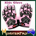 Pink Kids child Motorcycle Gloves Motorbike Gear skating cycling bmx racing