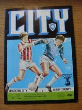 30/08/1978 Leicester City v Derby County [Football League Cup] (Creased)