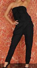 SeXY Miss Clubbing Crash Knitter Bandeau Overall schwarz 34 36 38 NEU