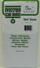 "Evergreen Sheet Styrene 4250 - V-Groove - 250"" Spacing (6.3mm) - 040"" Thick"