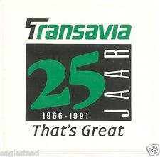 Baggage Label - Transavia - 25 years - 1991 (BL318)