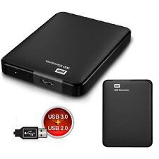 HARD DISK ESTERNO 1TB 2,5 WESTERN DIGITAL CON CAVO USB 3.0/2.0 WDBUZG0010BBK