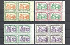 Guinea 1965 Sc# 372-75 set New York Exhibition pavilion of Guinea blocks 4 MNH