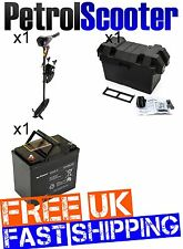 12v Electric Outboard Motor 55lb 0.9HP Dinghy Kayak Fishing Boat   Battery   Box