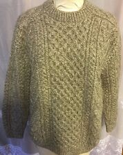 Quills Ireland Hand Knit Woolen Wool Sweater Crew Neck Men's M-L