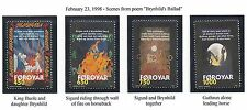 "FAROE ISLANDS  #332-335  MNH 1998 ""SCENES FROM SIGURD  POEM ""BRYNHILD'S BALLAD"""