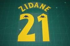 Juventus 97/98 #21 ZIDANE Awaykit Nameset Printing