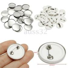 """25mm/1"""" 100Sets Tinplate Pin Badge Button Parts Supplies for Pro Maker Machine"""
