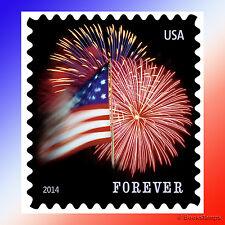 100 Forever USPS Postage Stamps US Star Spangled Banner Flag Coil Roll Fireworks