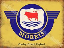 Morris Badge Logo Old Classic Car Van Vintage Garage Spares Large Metal/Tin Sign