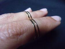 Lot de 4 bagues de phalanges fines métal doré mode trendy original taille 53