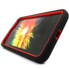 Black Red Tough Rugged Stand Hybrid Hard Cover Case For Nokia Lumia 1320