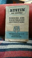 Austin A35 modelos que funcionan con y mantenimiento instrucciones