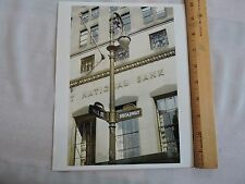 1950 Porcelain Street Sign Wall St. Broadway New York City NYC Color Photo