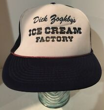 Vintage Dick Zoghley's Ice Cream Factory - Mesh Trucker Hat Cap Cord Snapback