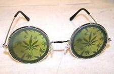 MULTIPLE POT LEAF HOLOGRAM SUNGLASSES novelty glasses hippie festival MARIJUANA