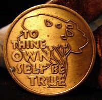 Recovery Tree Bronze Medallion Token Coin AA NA Narcotics Alcoholics Anonymous