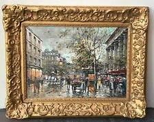 "Antoine Blanchard French Oil On Canvas Painting 13"" By 18"" With Certificate"