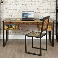 Kuredu reclaimed wood furniture laptop home office PC computer desk