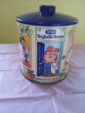 Vintage Tetleys Tea Biscuit Barrel/Tin