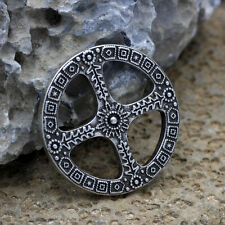 Sun Cross Pendant Norse Amulet Wheel of Life Celtic Necklace