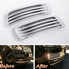 Front Fog Light Side Fender Air Vent Grill Trim For Land Rover Range Rover 13-17