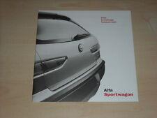 46101) Alfa Romeo 156 SW Preise & Extras Prospekt 12/2000