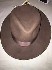 Indiana Jones Wool 100 % Wool Felt CRUSHABLE Hat-Brown-Small New ( Made In USA )