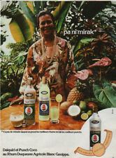 Publicité Advertising  DAIQUIRI et PUNCH COCO AU RHUM DUQUESNE