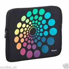 "15 inch/15.4"" Laptop Skin Sleeve Notebook Case by Targus Black Spectrum Circles"
