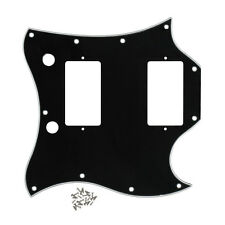 SG Full Face Guitar Pickguard Black Color 3Ply With Screws for SG Style Guitar