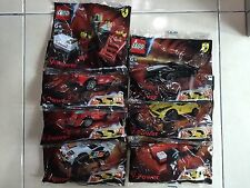 SHELL LEGO FERRARI COMPLETE FULL SET (7PCS)  / LIMITED / VERY RARE / NEW