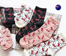 NEW 3 PAIRS Lady Women Girls Japan Hello Kitty Casual Cute Socks