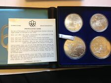 CANADA 1976 MONTREAL OLYMPIC GAMES .925 STERLING SILVER PROOF 4 COIN SET