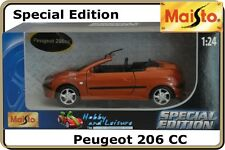 1:24 MAISTO PEUGEOT 206 cc, Special Edition #31972 (Copper/Bronze Colour). NIB