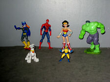 lot Figurines Hulk/Volverine/Spiderman/Wonder Woman/Chien héros/Batgirls