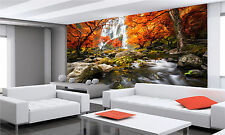 Waterfall in the Autumn 1 Wall Mural Photo Wallpaper GIANT WALL DECOR