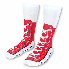 Red Sneaker Socks Novelty Socks for Men Funny Gift Ideas Adult Size 5-11